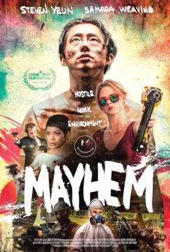 MAYHEM (2017) - con el chino de the walking dead