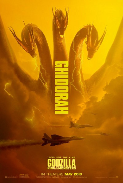 godzilla king of the monsters ghidorah poster 405x600